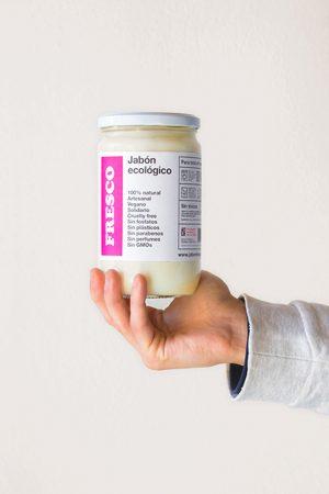 Jabón de Castilla natural en tarro, para todo el hogar, sin plásticos